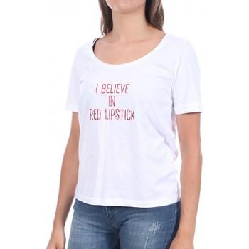 textil Mujer Camisetas manga corta Pieces  Blanco