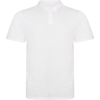 textil Hombre Polos manga corta Awdis JP020 Blanco Jaspeado