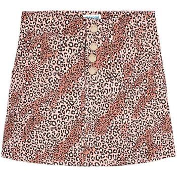 textil Niña Faldas Mayoral Falda sarga leopardo Rosa