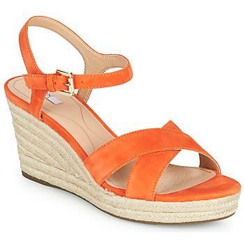 Zapatos Mujer Zapatillas bajas Geox D SOLEIL Naranja