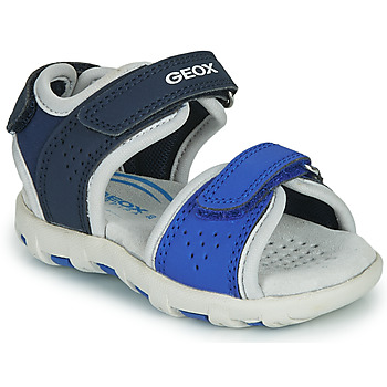 Zapatos Niño Sandalias Geox SANDAL PIANETA Azul