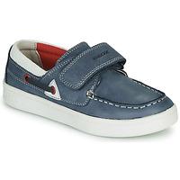 Zapatos Niño Mocasín Geox J DJROCK GARÇON Azul / Blanco