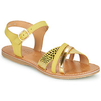 Zapatos Sandalias Geox J SANDAL EOLIE GIRL Amarillo / Oro