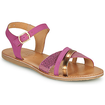 Zapatos Mujer Sandalias Geox J SANDAL EOLIE GIRL Rosa / Oro