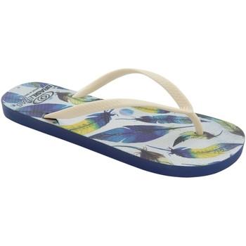 Zapatos Mujer Chanclas Brasileras Chancla ®,Printed Plume White/White