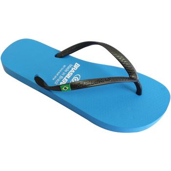 Zapatos Mujer Chanclas Brasileras Chancla ®, Classic Combi Pearl W LT.Blue/Black