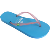 Zapatos Mujer Chanclas Brasileras Chanclas de playas ®, Classic Combi Pearl W LT.Blue/Pink