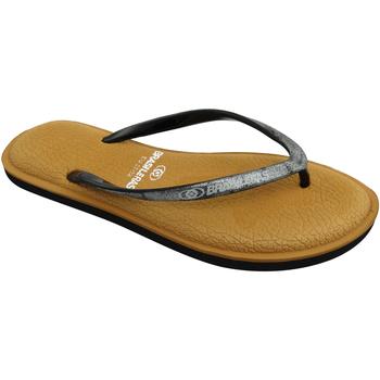 Zapatos Mujer Chanclas Brasileras Chanclas de playa ®,Softy Combi Brown/Silver