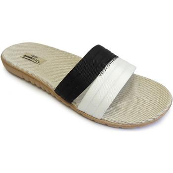 Zapatos Mujer Chanclas Brasileras Sandalia ®,Tren Pala Combi Black/White