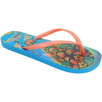 Zapatos Mujer Chanclas Brasileras Chancla ®,Printed Mandala Orange/Orange/Orange/Orange