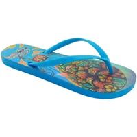 Zapatos Mujer Chanclas Brasileras Chancla ®,Printed Mandala LT.Blue/LT.Blue