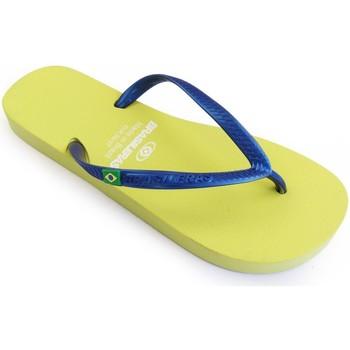 Zapatos Mujer Chanclas Brasileras Chanclas de playas ®, Classic Combi Pearl W Yellow/Blue