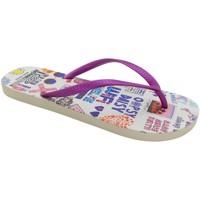 Zapatos Mujer Chanclas Brasileras Chancla ®,Printed Socialflop Purple/Purple