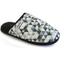 Zapatos Pantuflas Nuvola. Zapatilla de estar por casa NUVOLA®,Zueco Geo Suela de Goma. Grey/Grey