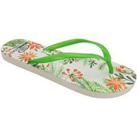 Zapatos Mujer Chanclas Brasileras Chancla ®,Printed Tropicana Green/Green
