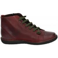 Zapatos Mujer Botas de caña baja Boleta Botines piel Rojo