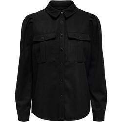 textil Mujer Camisas Only ONLEILENA-VARI PUFF SHIRT Negro