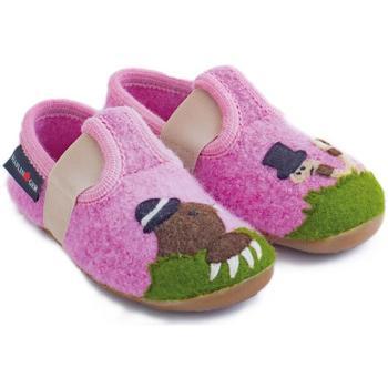 Zapatos Niños Pantuflas para bebé Haflinger 48311129 Rosa