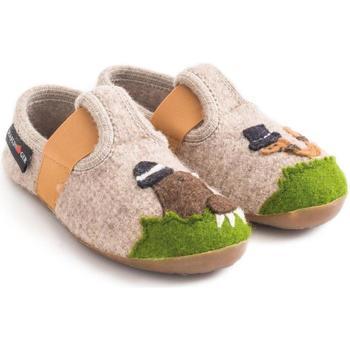 Zapatos Niños Pantuflas para bebé Haflinger 48311187 Beige