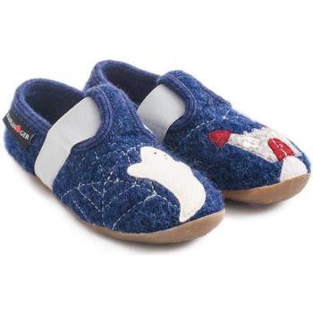 Zapatos Niños Pantuflas Haflinger 48311272 Blu