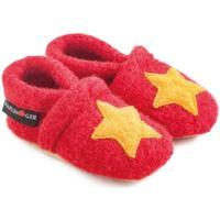 Zapatos Niños Pantuflas para bebé Haflinger 65306311 Rosso