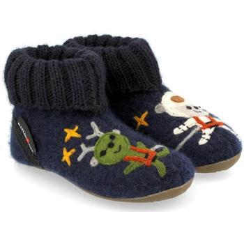 Zapatos Niños Pantuflas Haflinger 48313776 Blu