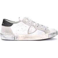 Zapatos Hombre Deportivas Moda Philippe Model Zapatilla Paris X de piel y gamuza blancos Gris
