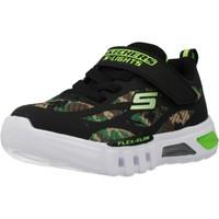 Zapatos Niño Zapatillas bajas Skechers FLEX-GLOW-RONDLER Negro