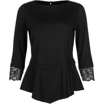 textil Mujer Tops / Blusas Lisca La parte superior de la manga tres cuartos Impressif negro Pearl Black
