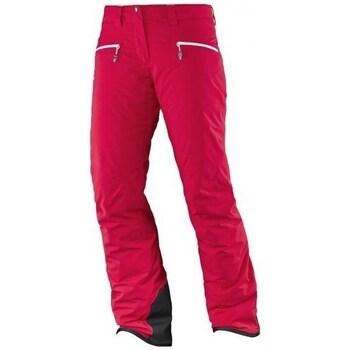 textil Mujer Pantalones Salomon Whitecliff Gtx W Rojos