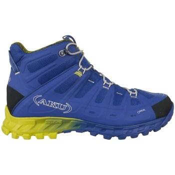 Zapatos Hombre Senderismo Aku Selvatica Mid Gtx Goretex Azul, Amarillos