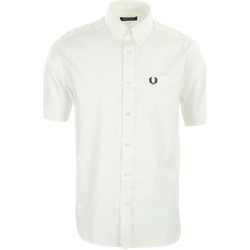 textil Hombre Camisas manga larga Fred Perry Oxford Shirt Blanco