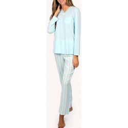 textil Mujer Pijama Admas Ropa interior de pijama y pantalones largos Classic Stripes Azul