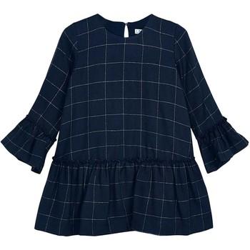 textil Niña Vestidos cortos Mayoral Vestido cuadros Azul