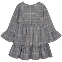 textil Niña Vestidos cortos Mayoral Vestido cuadro gales Gris