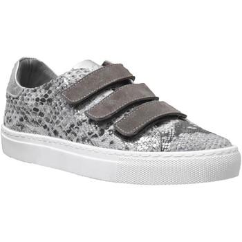 Zapatos Mujer Zapatillas bajas K.mary Clany Cuero metalizado gris pardo
