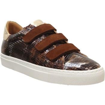 Zapatos Mujer Zapatillas bajas K.mary Clany Cuero marrón/dorado