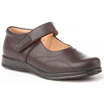 Zapatos Niña Zapatillas bajas Angelitos Colegiales merceditas de piel by Marron