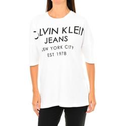 textil Mujer Camisetas manga corta Calvin Klein Jeans Camiseta Manga Corta Calvin Klein Blanco