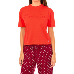 textil Mujer Camisetas manga corta Calvin Klein Jeans Camiseta Manga Corta Calvin Klein Rojo