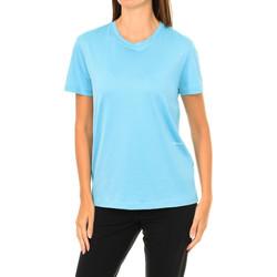 textil Mujer Camisetas manga corta Calvin Klein Jeans Camiseta Manga Corta Calvin Klein Azul