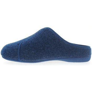 Zapatos Hombre Pantuflas Plumaflex By Roal Zapatillas de Casa Roal 9021 Marino Azul