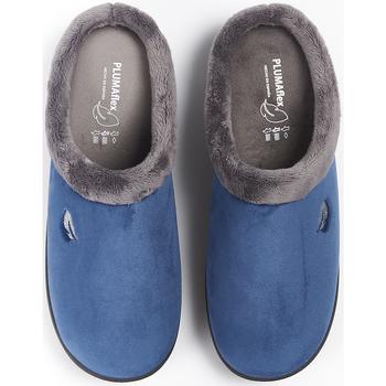 Zapatos Hombre Pantuflas Plumaflex By Roal Zapatillas de Casa Roal 12230 Marino Azul