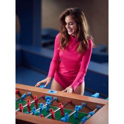 textil Mujer Tops / Blusas Lisca Disfruta la camiseta manga larga con cuello alto  Cheek Marina/naranja