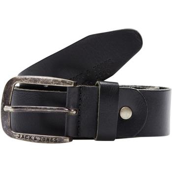Accesorios textil Hombre Cinturones Jack & Jones 12111286 JACPAUL LEATHER BELT NOOS BLACK Negro