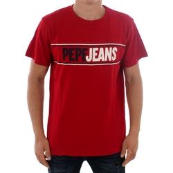 textil Hombre Camisetas manga corta Pepe jeans KELIAN PM506757 284 GARNET Burdeos