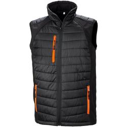 textil Hombre Plumas Result R238X Negro/Naranja