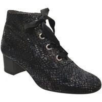 Zapatos Mujer Botines Folies Mahe Cuero gris metal