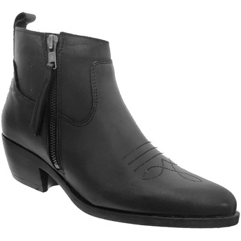 Zapatos Mujer Botines Goodstep 1511 Cuero negro