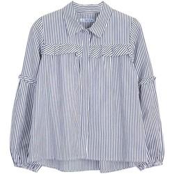 textil Niña Camisas Mayoral Blusa lurex Azul